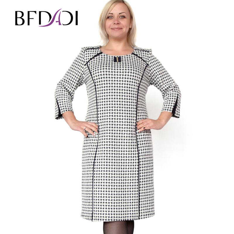 bf36382b061 BFDADI Большой размер XL-6XL модное черные и белые переплетения с  о-образным шею