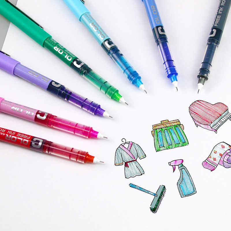 قلم جيل سائل مستقيم 0.38 مللي متر 0.5 مللي متر يجيد ألوان الطلاب أقلام تلوين عالية الجودة أدوات مكتبية للكتابة 1 قطعة