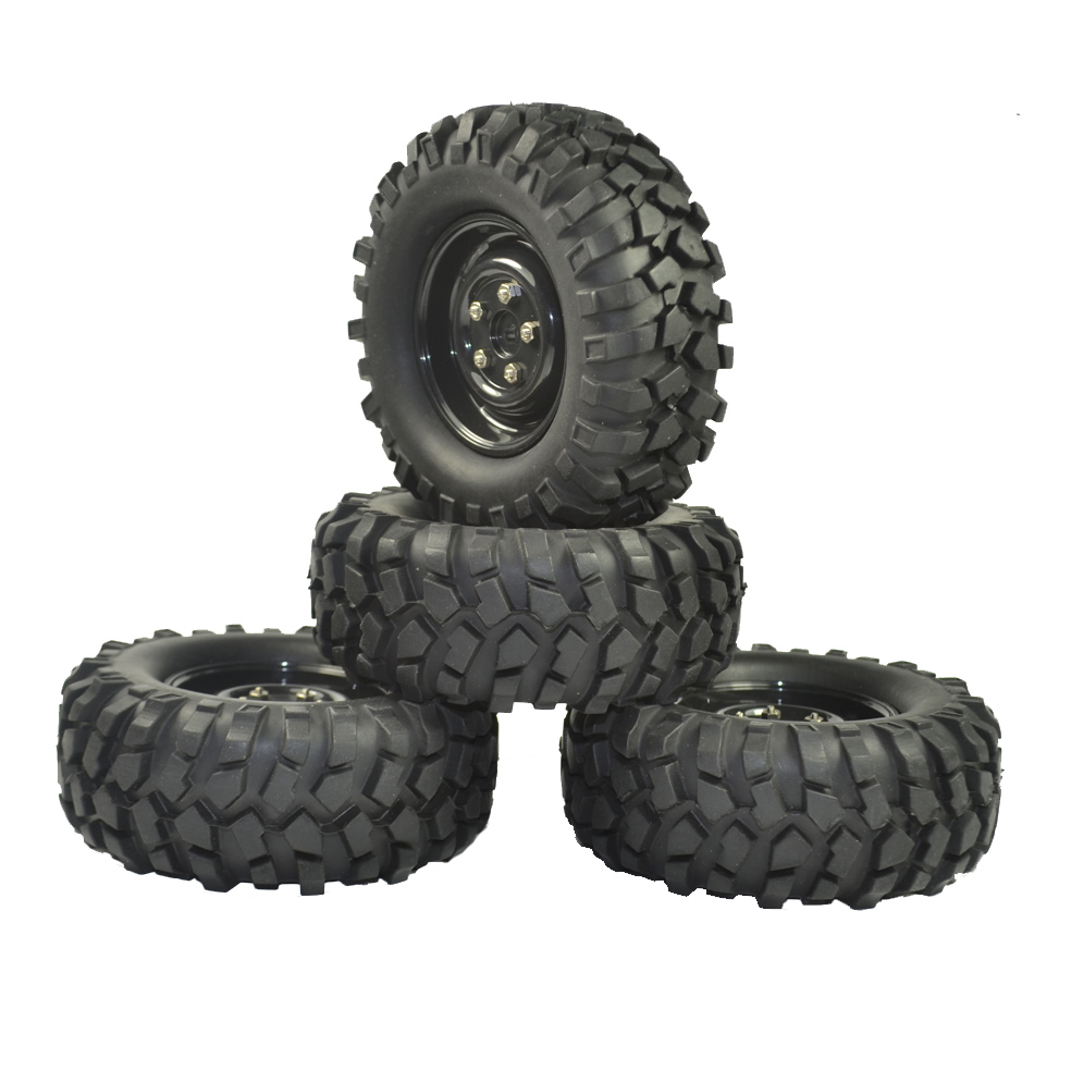 Image 4 - 4PCS 96mm Tyre RC 1/10 Off Road Car Beach Rock Crawler Tires Wheels Rim-in Parts & Accessories from Toys & Hobbies