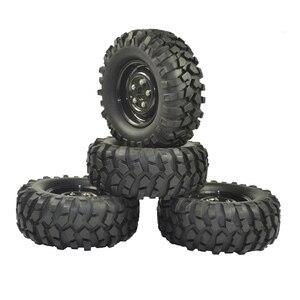 Image 4 - 4PCS 96mm Tyre RC 1/10 Off Road Car Beach Rock Crawler Tires Wheels Rim