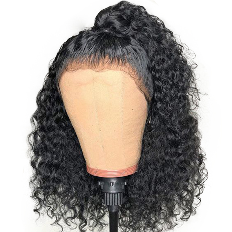 Curly-360-Lace-Frontal-Wig-180-Density-Transparent-Lace-Wig-Short-Bob-Lace-Front-Human-Hair
