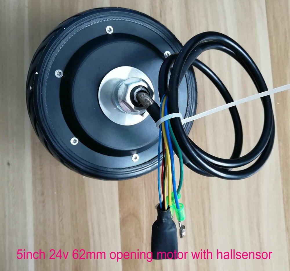 5 pouces BLDC moyeu moteur 24v36v48v 50-250 w avec capteur hall et EBS fonction et avant/arrière course pour scooter électrique ebike