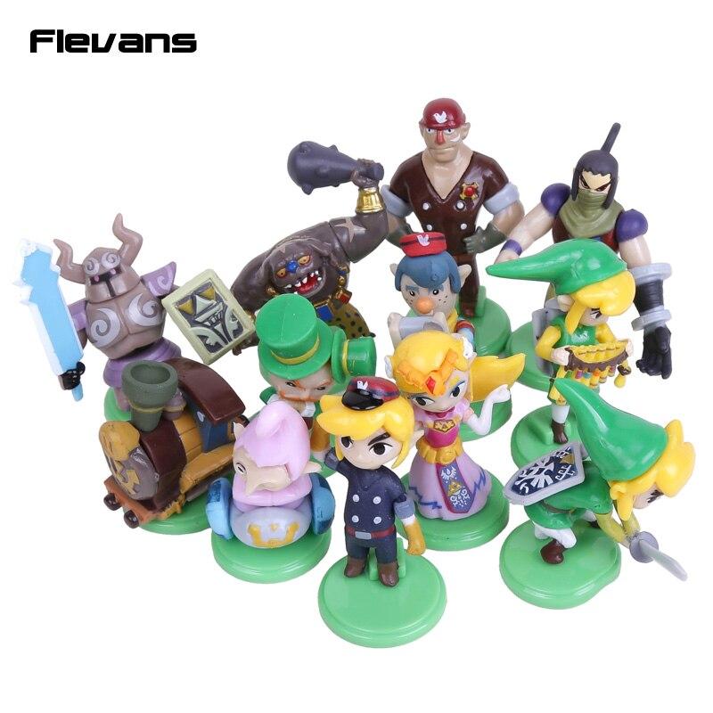 Egg The Legend of Zelda Ligação Mini Ação PVC Figuras Colecção Brinquedos  12 pçs set 3.8 ~ 5.8 cm a78cf51f086de