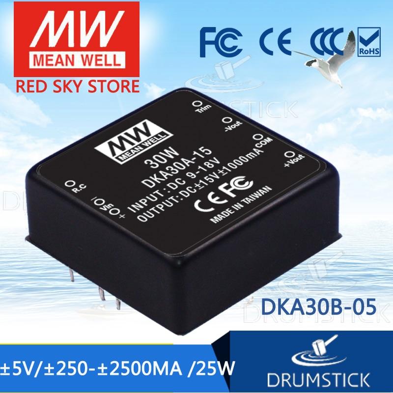 цена на Selling Hot MEAN WELL DKA30B-05 5V 2500mA meanwell DKA30 5V 25W DC-DC Regulated Dual Output Converter
