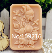 1pcs Small Flowers with Bees (zx273) Food Grade Silicone Handmade Soap Mold Crafts DIY Mould