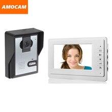 Oferta especial 7 pulgadas Monitor de videoportero cámara del timbre del intercomunicador intercomunicador Video de la puerta de casa videoportero con conexión de cable