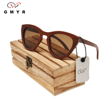 Кошачий глаз Женщины деревянные очки 5 линз ынатурального дерева изделия из дерева из дерева очки женщины