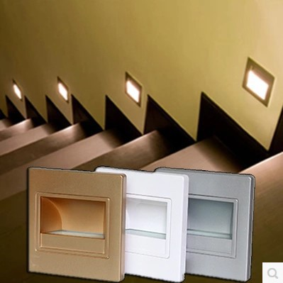 Simple moderna llev la luz de la escalera de iluminaci n - Iluminacion de escaleras ...