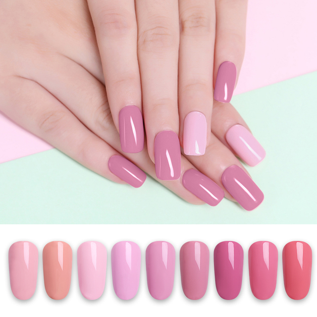 LILYCUTE Nail Art Gel 5ML Pure Color UV LED Gel Nail Polish Long-lasting Macaron Soak off Varnish Gel Lacquer 4