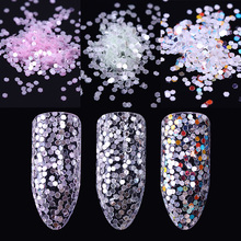 2g Hexagon Nail Sequins Paillette 1mm Pink Green Colorful Na
