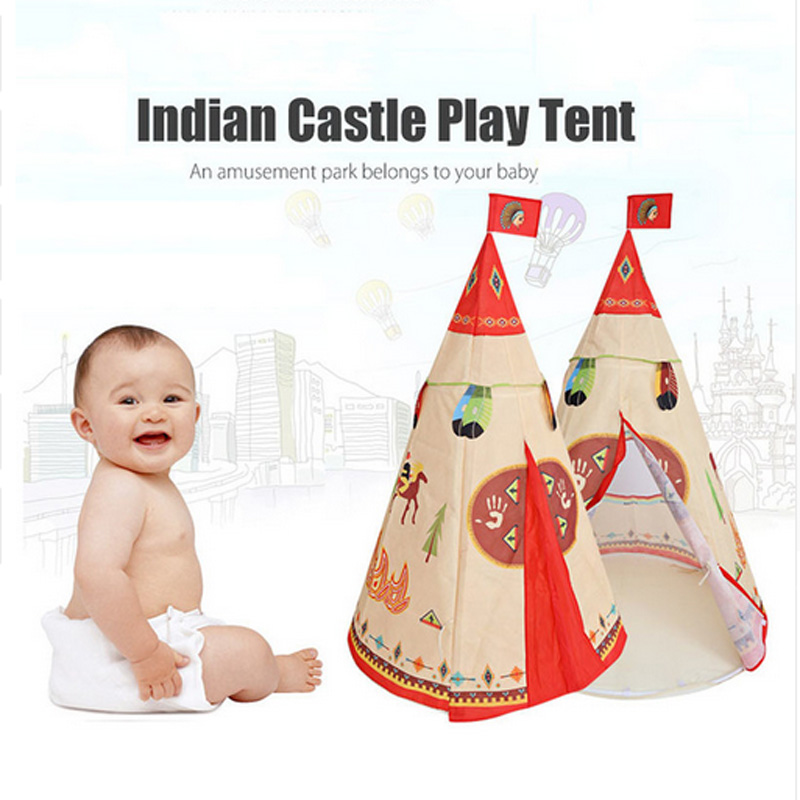 indian game tent Princess Teepee Play House Indoor Outdoor Play Tent For children Play Role Play Game baby castle crib net 102 mrpomelo children indoor indian teepee play house solid blue garden game playhouse 100