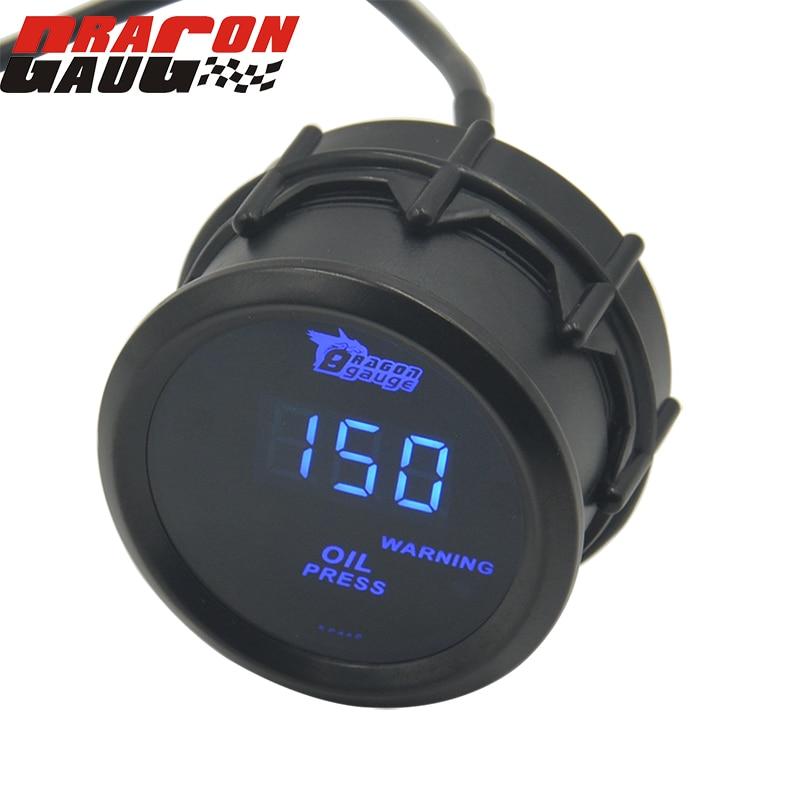 calibre do dragao universal 52mm digita azul retroiluminacao medidor de pressao do oleo do carro meterl