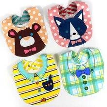 4pcs lot Fashion High Quality Cartoon Double-sided Cotton Baby Girls or Boys Bibs Bib / Aprons Infant Saliva Towels Cute