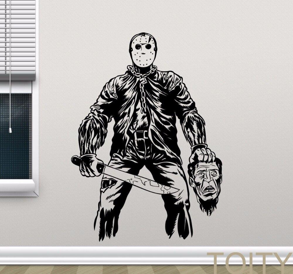Jason Voorhees Wall Sticker Retro Horror Movies Vinyl -8099