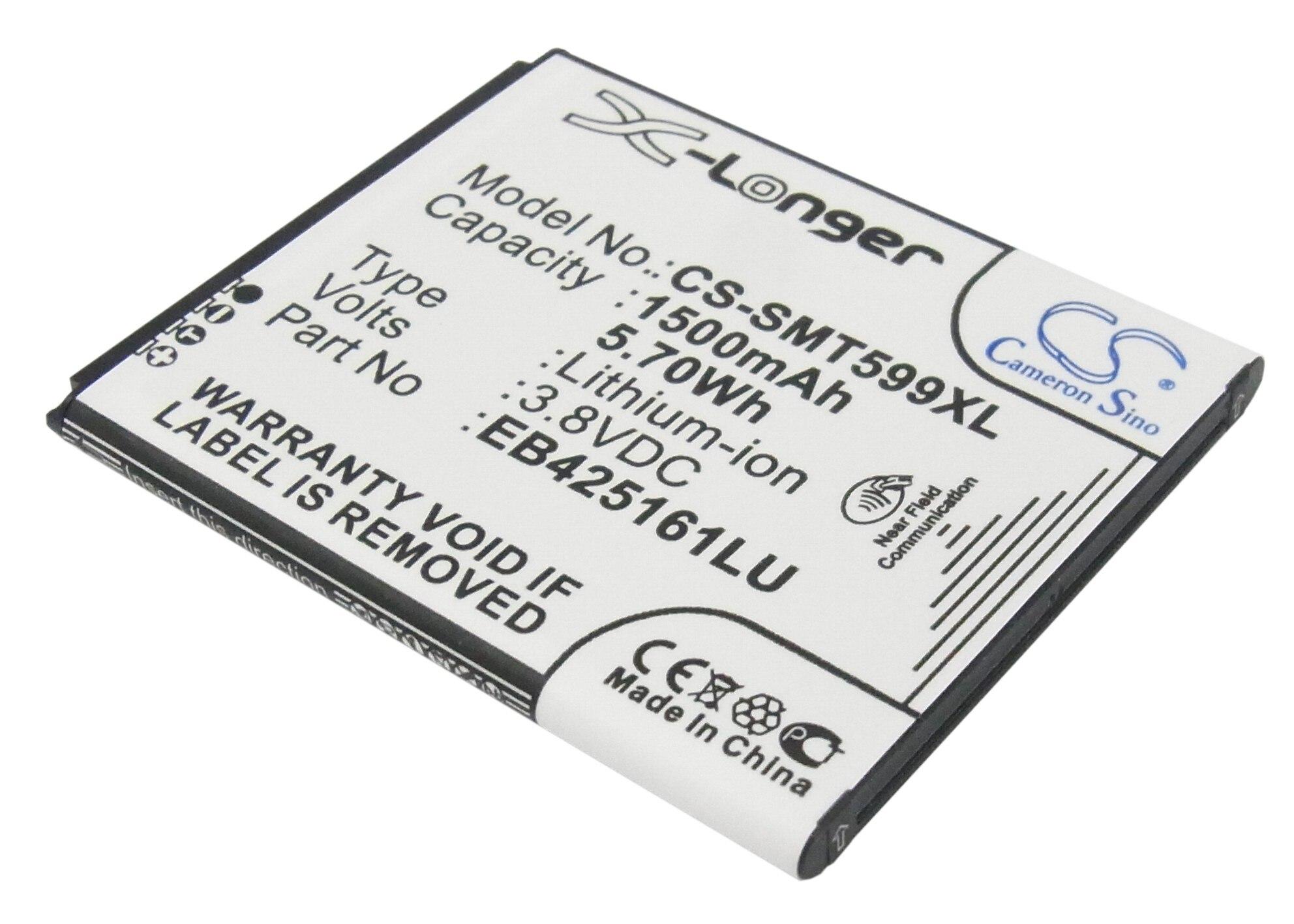 imágenes para Eb425161lu batería para samsung para galaxy trend ii duos, GT-S7898i, SCH-I739, SGH-T599 (1500 mAh)
