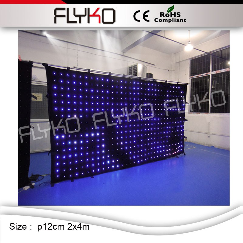 P12 2mx4m 2016 sex movies display led video curtain for stage backdrop led video curtain display