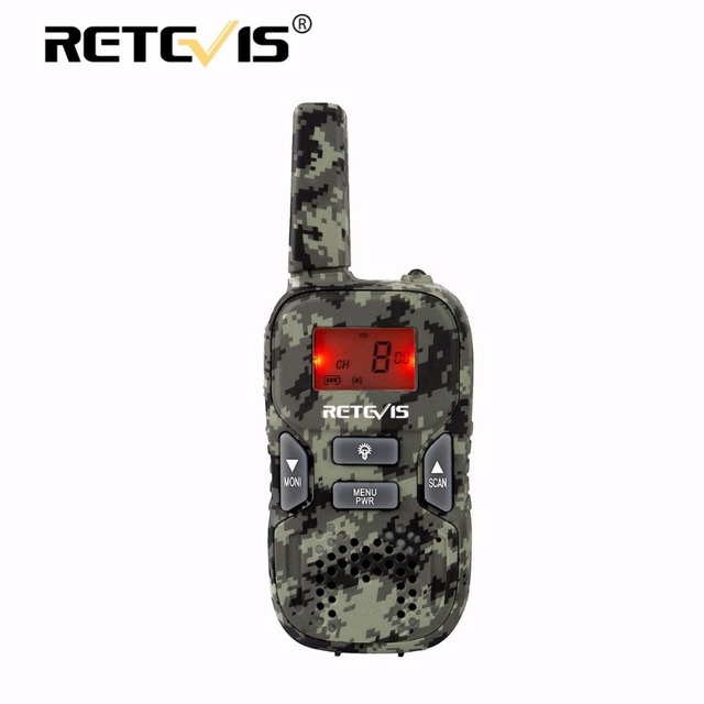 1 piece Retevis RT33 Kids Radio Children Walkie Talkie 0.5W PMR446 8CH/22CH Scan VOX Call Tone CTCSS/DCS Flashlight J9117