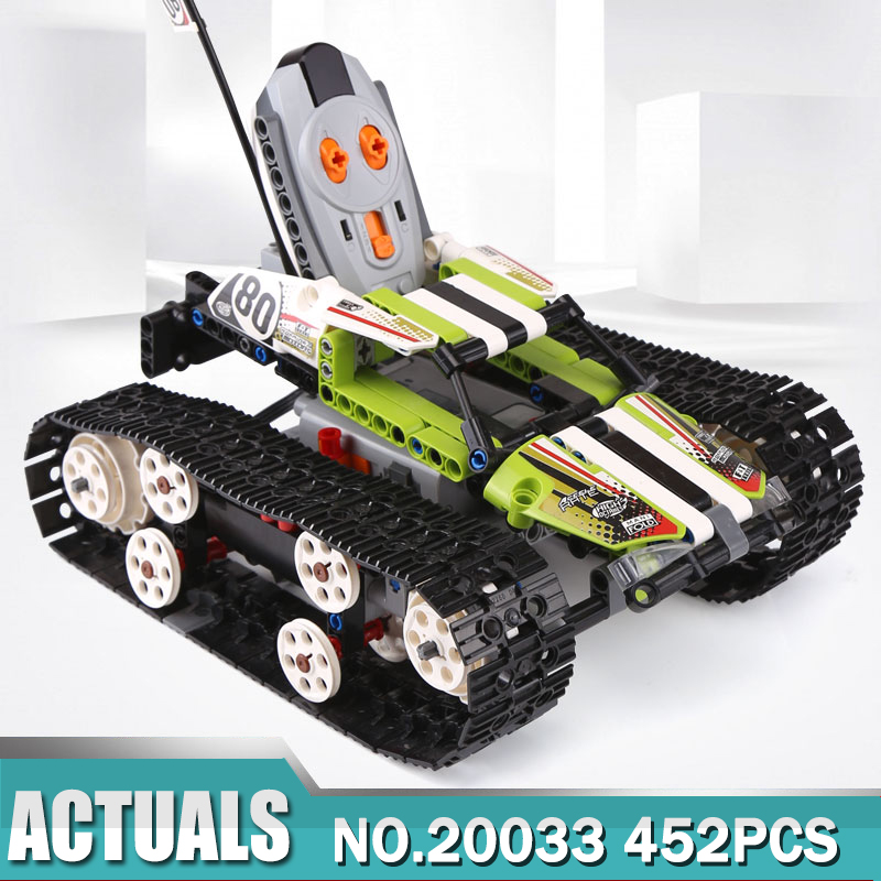 Lepin 20033 Technic RC TRACKED RACER Building Blocks Electric Motor Power Function Model Brick Compatible With Legoing 42065