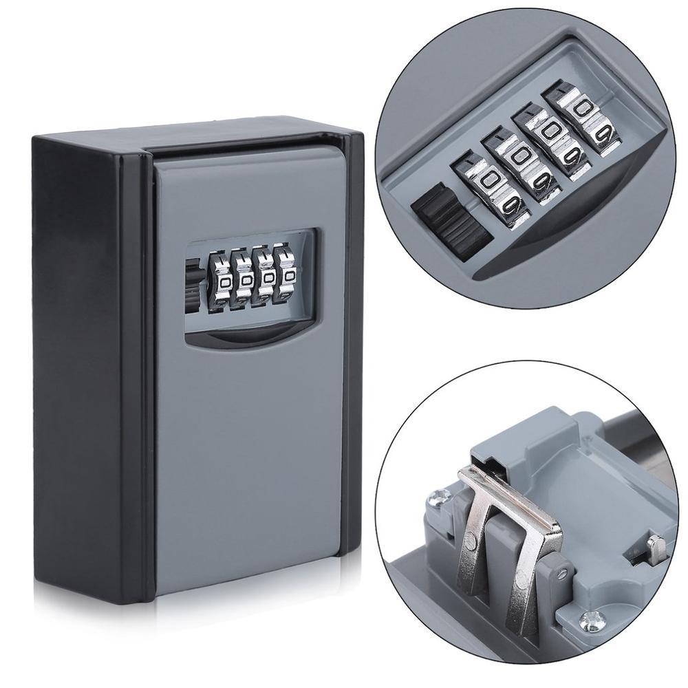 4 Digit Combination Password Key Storage Security Lock High Security Secret Safe Organizer Wall Mounted Key Safe Box4 Digit Combination Password Key Storage Security Lock High Security Secret Safe Organizer Wall Mounted Key Safe Box