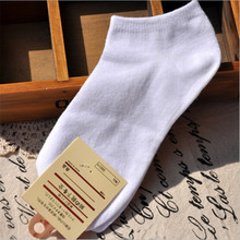 1pcs White Candy Color Ankle Socks 19cm 100% Cotton Short Black Warm Sock Vintage Harajuku Happy Solid Casual High Quality