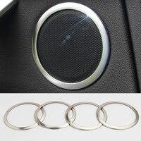 For BMW X6 E71 Interior Car Door Speaker Cover Trim 2008 2014 4pcs