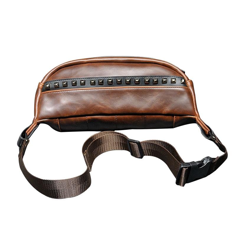 Κολλήστε το μικρό πακέτο στήθους Πακέτα μέσης το καλοκαίρι Crossbody fashion PU δέρμα Για τους άνδρες τσάντες vintage τσάντα ώμου