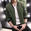 2016 Hot Spring Men's Blazer Leisure Stand Collar Fashion Slim Fit Casual Suit Top Jacket 6 Colors M-XXXL