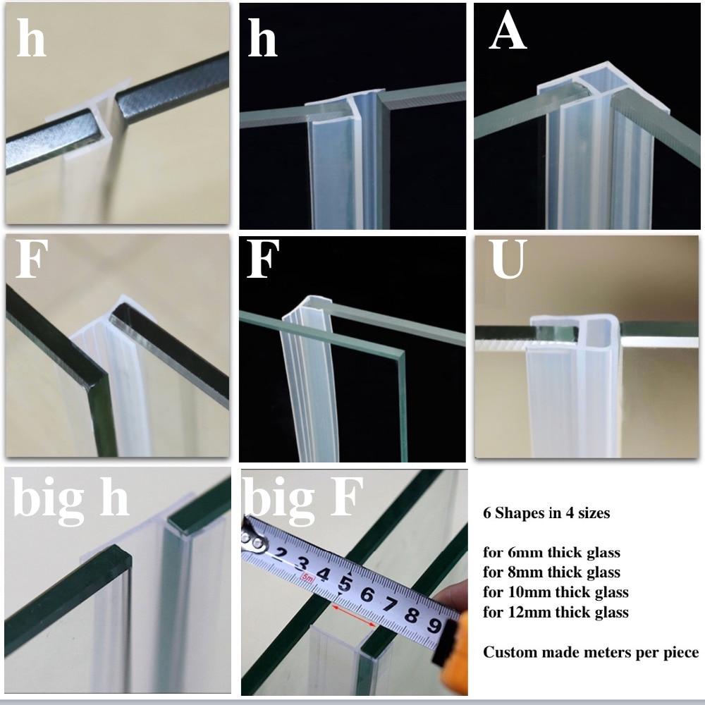 Online buy wholesale sliding glass door seal strip from china silicone seals sliding door screen shower door window barn bathroom sealing 6 8 10 12mm glass eventelaan Gallery