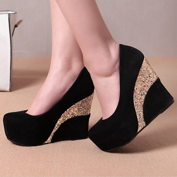 Hot Sale 2014 New white beading Bottoms12cm wedges Heels ...