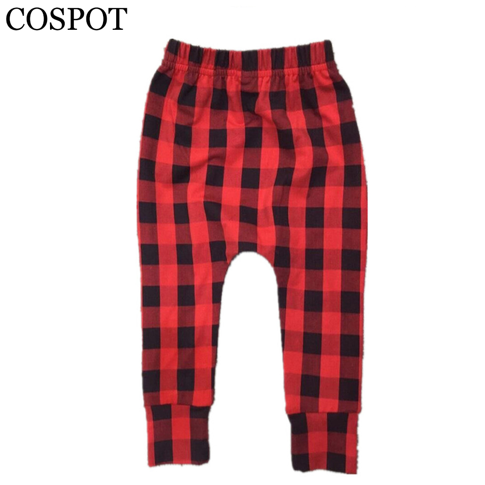 Baby Boys Girls Christmas Harem Pants Boy Girl Autumn Red Plaid - Ropa de ninos