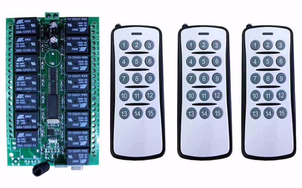 2Pieces Wireless Remote Control 1000m Long Range ON//OFF Switch DC12V 10A