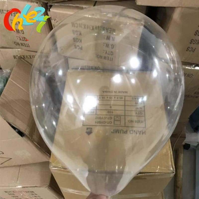 10x No Wrinkle Bobo Transparent Clear Balloons Wedding Inflatable Bubble Balloon