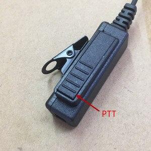 Image 3 - Big PTT clear air tube headset earphone M plug 2 pins for motorola A8,ep450,cp040,gp88s,gp2000,Hytera walkie talkie