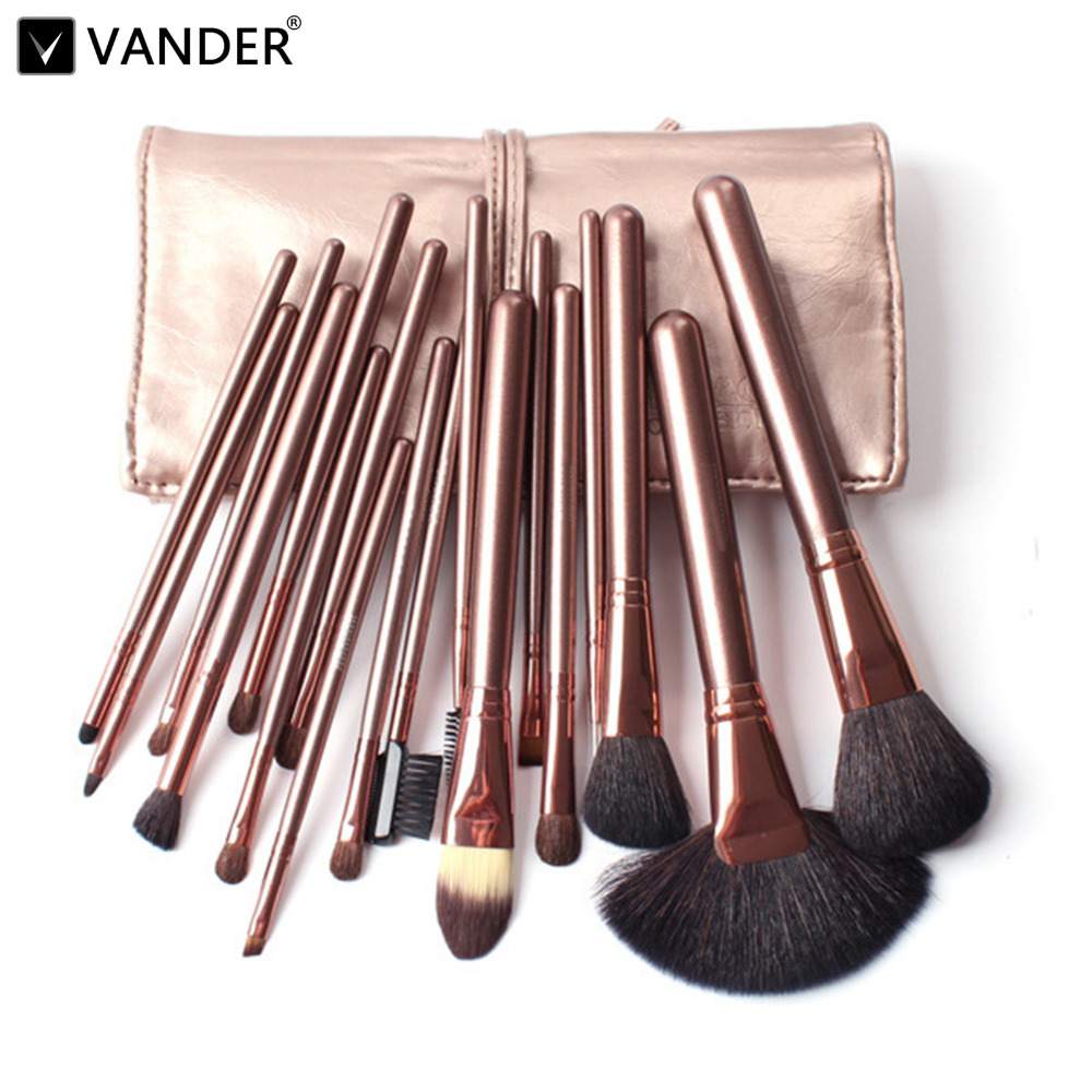 18 Pcs Makeup Brushes Set Pink Beauty Cosmetics Eyebrow Shadow Powder Make Up Tools + Pouch Bag blush pincel maleta de maquiagem pro 20pcs set make up styling tools cosmetic eyeliner eyebrow lipsticks shadow wood pincel makeup blushes kit cosmetics pinceaux