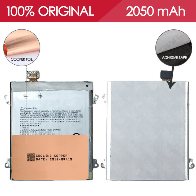 Allparts 100% Tested  C11P1324 2050mAh Li-ion Mobile Phone Battery For Asus Zenfone 5 A500G Z5 T00J Replacement Parts