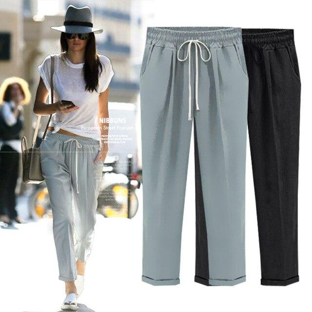 Black Linen Pants Womens | Gpant