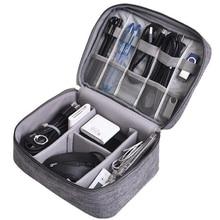 Портативный водонепроницаемый цифровой usb-гаджет, органайзер, сумка для кабеля, чехол для гаджета, зарядное устройство, провода, чехол для хранения, комплект, чехол, аксессуары, FHM116