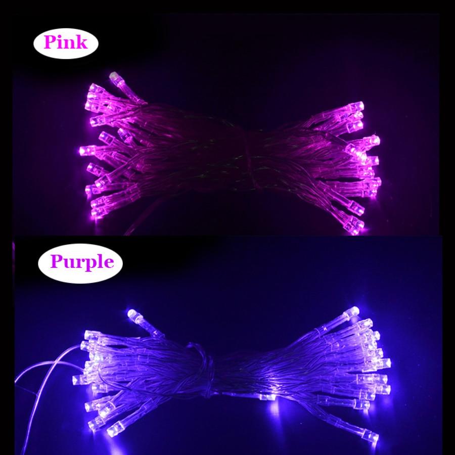 80leds 10M LED String Light Battery Powered Fairy Lights For Party Garden Wedding Christ ...
