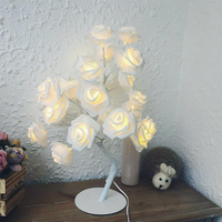 Rose Tree LED Table Lamp Home Decoration Night Lights 24 LEDs Lamp For Wedding Party Bedroom Room Indoor Decoration lw520258py