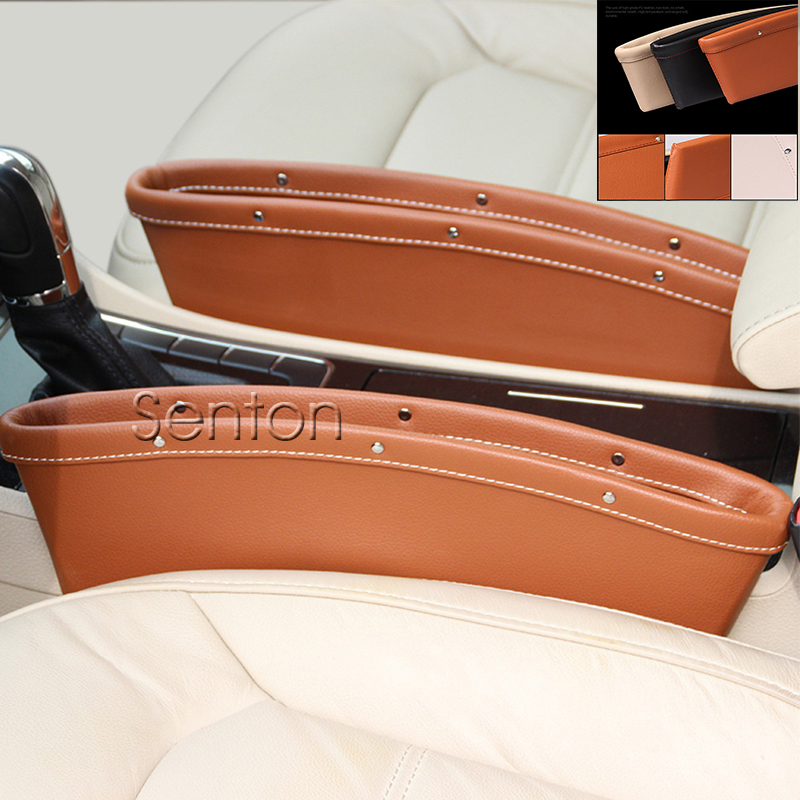 Car Styling Seat Pocket For Jeep Renegade Grand Cherokee Compass Wrangler Accessories For Fiat 500 Punto Stilo Cadillac CTS SRS for fiat punto fiat 500 stilo panda small hole ventilate wear resistance pu leather front