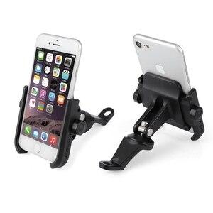 Image 1 - Haute qualité robuste en alliage daluminium rétroviseur Support de téléphone pour Moto Moto Support de Support Support pour iPhone12 GPS