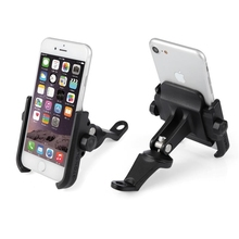 High Quality Sturdy Aluminum Alloy Rearview Mirror Motorcycle Phone Holder Moto Motorbike Bracket Stand Support for iPhone12 GPS