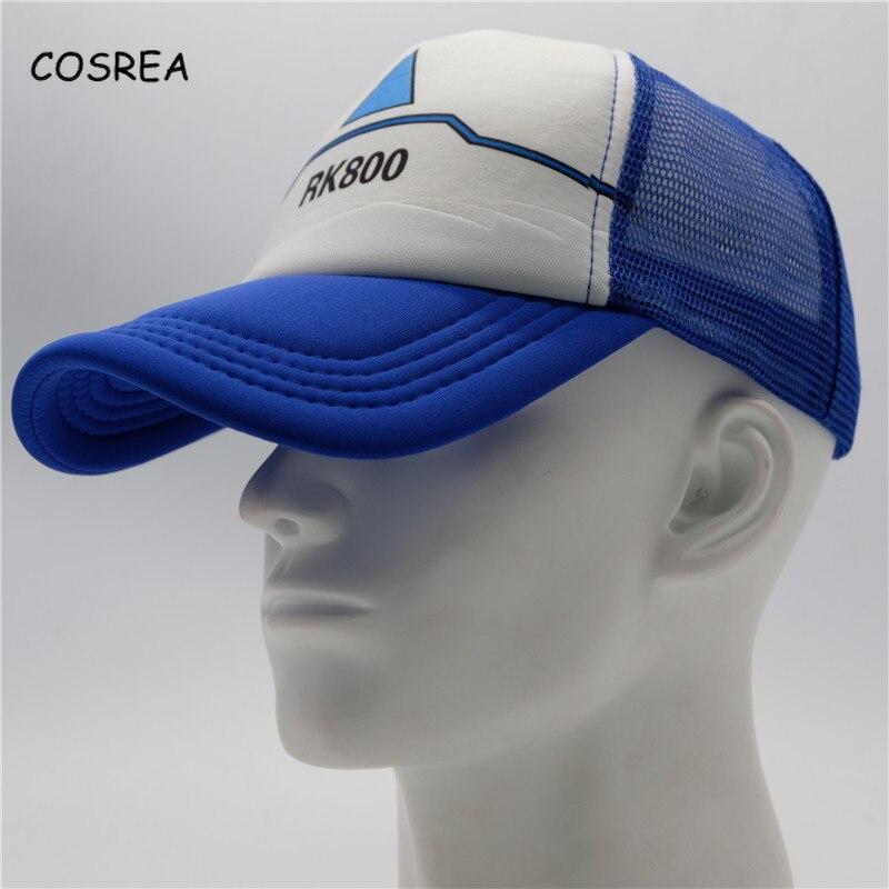 Detroit Become Human Hat Connor Topee Caps Visor Baseball Adjustable Snapback Cosplay Costumes