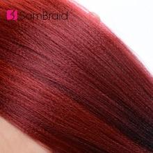 Sambraid Easy Jumbo косы предварительно растягивающиеся Омбре плетение волос крючком косы 24 дюйма 60 г/упак. канекалон синтетические волосы для наращивания для женщин