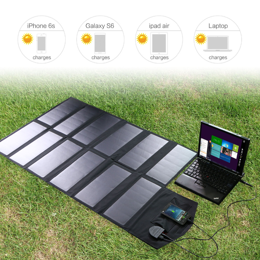 Allpowers Zonnepaneel 80W Solar Battery Charger Voor Iphone Sumsung Telefoons Lenovo Hp Dell Acer Laptops 12V Auto batterij Etc. - 5