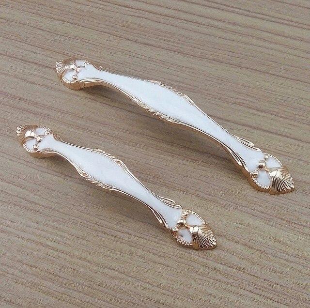 Europäische Rose Gold Weiße Farbe Möbel Hardware Griffe ...