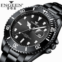 FNGEEN Wrist Watches for Men Stainless Steel Waterproof Divi