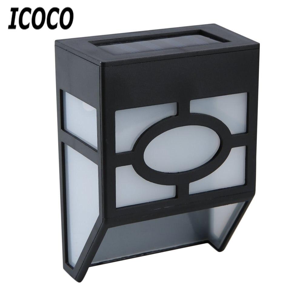 Icoco Водонепроницаемый Солнечный Мощность ED светодиодный свет настенного крепления низкая Мощность потребление супер яркий открытый сад путь забор свет лампы