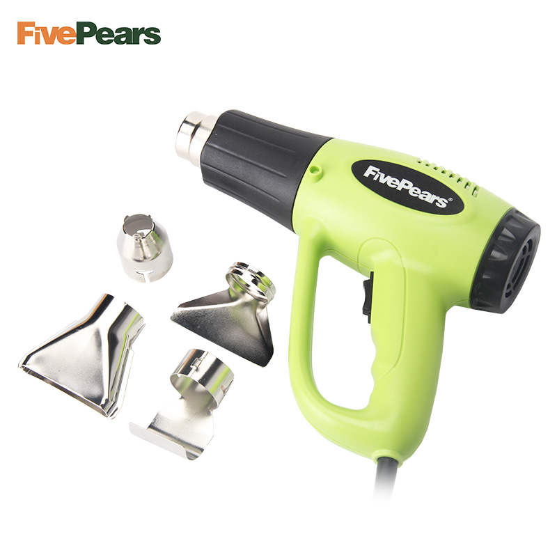 FivePears 2000W EU Plug Industrial Electric Hot Air Gun Temperature Adjustable Heat Gun Shrink Wrapping Thermal Heater 4Nozzle heat gun 2000w 220v temperature adjustable temperature industrial electric hot air gun