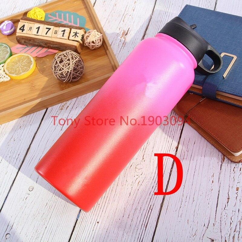 25 unids/lote 2018 colorido aislado botellas de agua de acero inoxidable 18 OZ/32 OZ/40 OZ boca ancha con deporte tapas-in Botellas de agua from Hogar y Mascotas    1